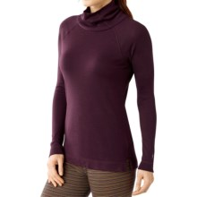 SmartWool NTS 250 Turtleneck Base Layer Top - Merino Wool, Long Sleeve (For Women) in Aubergine Heather - Closeouts