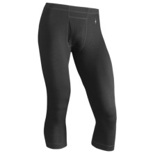 SmartWool NTS Base Layer Boot Top Bottoms - Merino Wool, 3/4 Length, Midweight (For Men) in Black - Closeouts