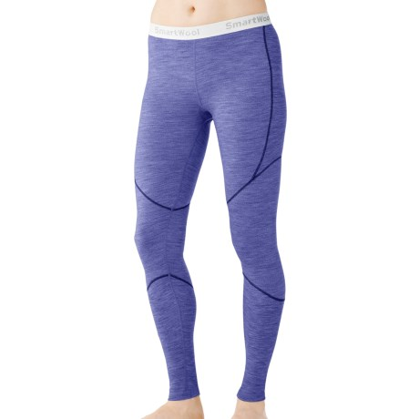 SmartWool NTS Base Layer Bottoms - Merino Wool, Lightweight (For Women) in Dark Polar Purple