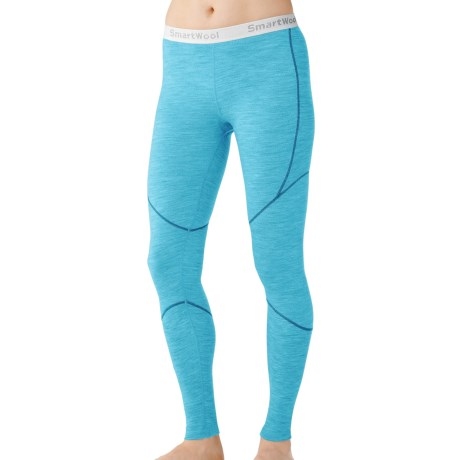 SmartWool NTS Base Layer Bottoms - Merino Wool, Lightweight (For Women) in Horizon Blue