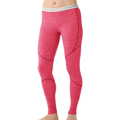 SmartWool NTS Base Layer Bottoms - Merino Wool, Lightweight (For Women) in Punch