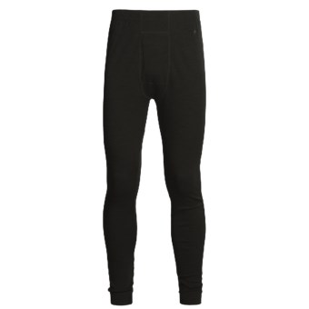 SmartWool NTS Base Layer Bottoms - Merino Wool, Midweight (For Men) in Black