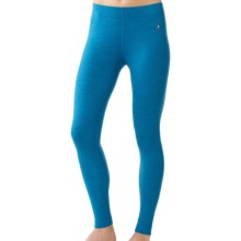SmartWool NTS Base Layer Bottoms - Merino Wool, Midweight (For Women) in Arctic Heather - Closeouts