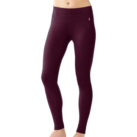 SmartWool NTS Base Layer Bottoms - Merino Wool, Midweight (For Women) in Imperial Purple Heather