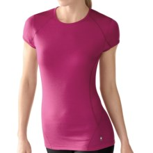 SmartWool NTS Base Layer T-Shirt - Merino Wool, Lightweight, Short Sleeve (For Women) in Berry - Closeouts