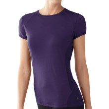 SmartWool NTS Base Layer T-Shirt - Merino Wool, Lightweight, Short Sleeve (For Women) in Grape - Closeouts