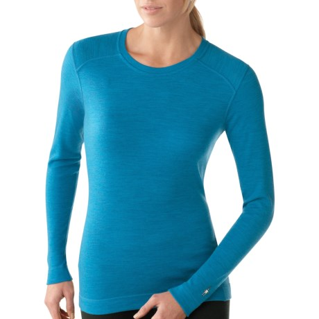 SmartWool NTS Base Layer Top - Merino Wool, Midweight, Crew Neck (For Women) in Arctic Heather