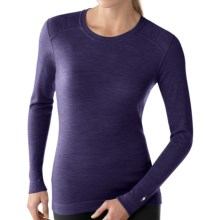SmartWool NTS Base Layer Top - Merino Wool, Midweight, Crew Neck (For Women) in Imperial Purple Heather - Closeouts