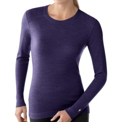 SmartWool NTS Base Layer Top - Merino Wool, Midweight, Crew Neck (For Women) in Imperial Purple Heather