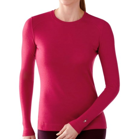 SmartWool NTS Base Layer Top - Merino Wool, Midweight, Crew Neck (For Women) in Persian Red Heather
