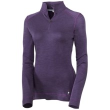 Smartwool NTS Base Layer Top - Midweight Merino Wool, Zip Neck, Long Sleeve (For Women) in Purple Heather - Closeouts