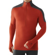 SmartWool NTS Funnel Zip Base Layer Top - Merino Wool, Midweight, Long Sleeve (For Men) in Canyon - Closeouts