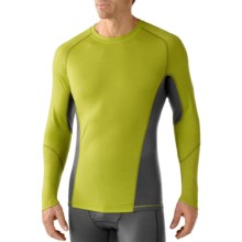 SmartWool NTS Light Base Layer Top - Merino Wool, Long Sleeve (For Men) in Glow Green - 2nds