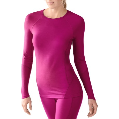 Smartwool NTS Light Base Layer Top - Merino Wool, Long Sleeve (For Women) in Berry