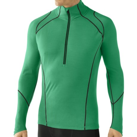 SmartWool NTS Lightweight Base Layer Top Merino Wool, Zip Neck, Long Sleeve (For Men)