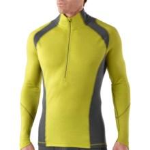 SmartWool NTS Lightweight Base Layer Top - Merino Wool, Zip Neck, Long Sleeve (For Men) in Glow Green - Closeouts