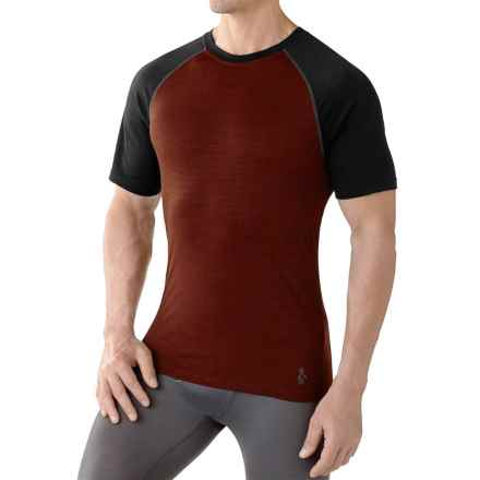 SmartWool NTS Micro 150 Base Layer Top - Merino Wool, Crew Neck, Short Sleeve (For Men) in Cinnamon - Closeouts