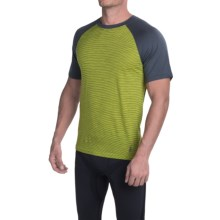 SmartWool NTS Micro 150 Base Layer Top - Merino Wool, Crew Neck, Short Sleeve (For Men) in Smartwool Green - Closeouts