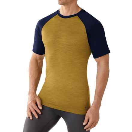 SmartWool NTS Micro 150 Base Layer Top - Merino Wool, Crew Neck, Short Sleeve (For Men) in Sunglow - Closeouts