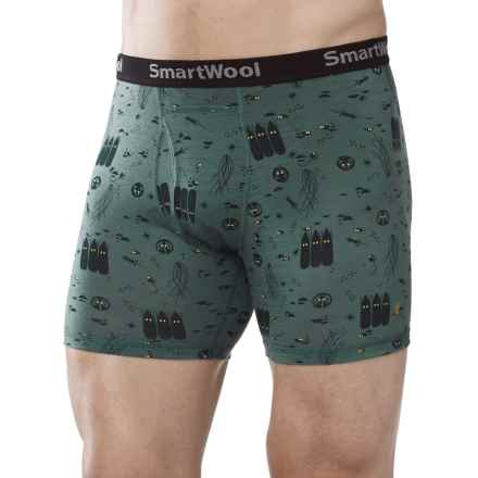 SmartWool NTS Micro 150 Charley Harper Boxer Briefs - Merino Wool (For Men) in Sea Pine - Closeouts