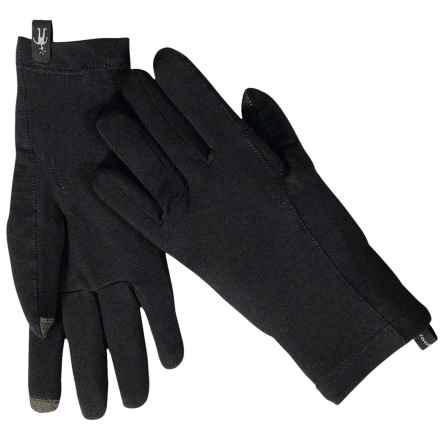 SmartWool NTS Micro 150 Gloves - Merino Wool, Touchscreen Compatible (For Men and Women) in Black - Closeouts