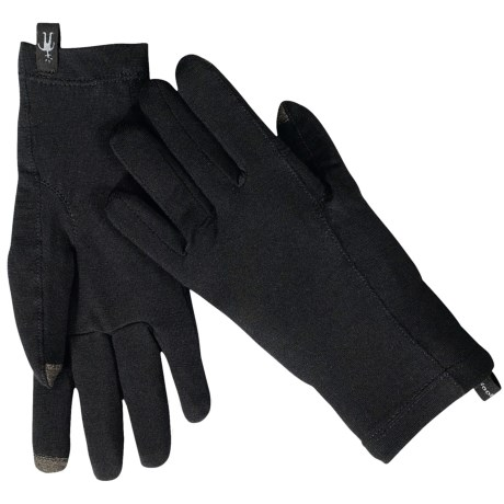 SmartWool NTS Micro 150 Gloves - Merino Wool, Touchscreen Compatible (For Men and Women) in Black