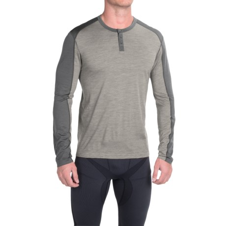 SmartWool NTS Micro 150 Henley Base Layer Top Merino Wool, Long Sleeve (For Men)