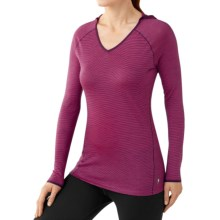 SmartWool NTS Micro 150 Hooded Base Layer Top - Merino Wool, Long Sleeve (For Women) in Bright Pink - Closeouts
