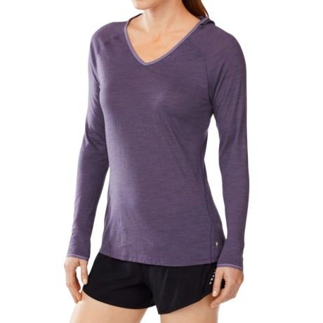 SmartWool NTS Micro 150 Hooded Base Layer Top - Merino Wool, Long Sleeve (For Women) in Desert Purple