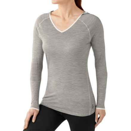 SmartWool NTS Micro 150 Hooded Base Layer Top - Merino Wool, Long Sleeve (For Women) in Silver Grey Heather - Closeouts