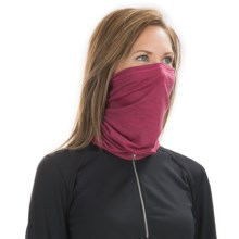 SmartWool NTS Micro 150 Neck Gaiter - Merino Wool (For Men and Women) in Bright Pink - Closeouts