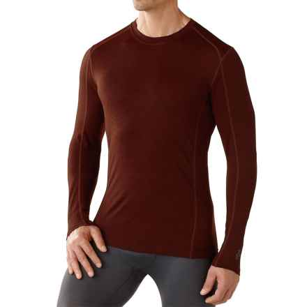 SmartWool NTS Micro 150 Pattern Base Layer Top - Merino Wool, Crew Neck, Long Sleeve (For Men) in Cinnamon - Closeouts