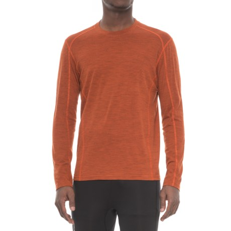 SmartWool NTS Micro 150 Pattern Base Layer Top - Merino Wool, Crew Neck, Long Sleeve (For Men) in Orange