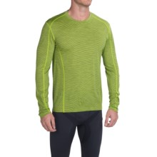 SmartWool NTS Micro 150 Pattern Base Layer Top - Merino Wool, Crew Neck, Long Sleeve (For Men) in Smartwool Green - Closeouts