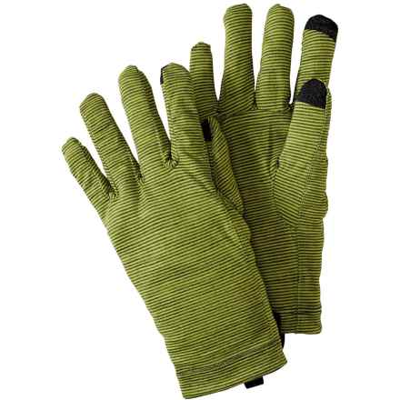 SmartWool NTS Micro 150 Pattern Gloves - Merino Wool, Touchscreen Compatible (For Men and Women) in Smartwool Green - Closeouts
