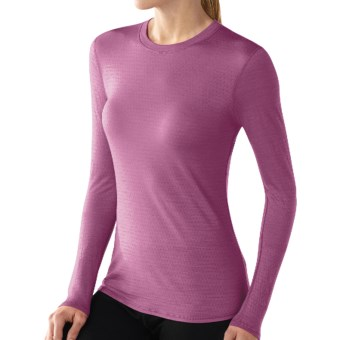 SmartWool NTS Microweight Base Layer Top - Merino Wool, Crew Neck, Long Sleeve (For Women) in Violet