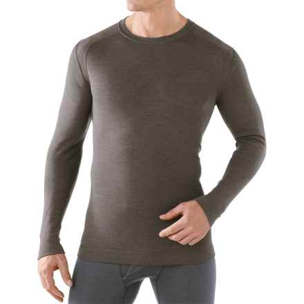 SmartWool NTS Mid 250 Base Layer Top - Merino Wool, Crew Neck, Long Sleeve (For Men) in 736 Taupe Heather - Closeouts
