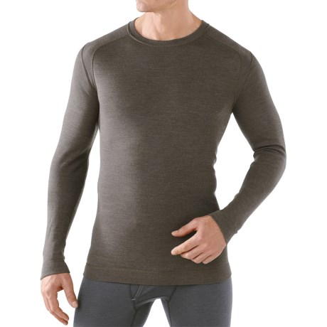 SmartWool NTS Mid 250 Base Layer Top - Merino Wool, Crew Neck, Long Sleeve (For Men) in 736 Taupe Heather