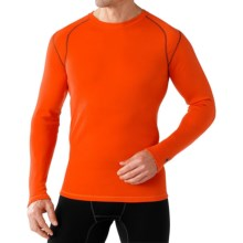 SmartWool NTS Mid 250 Base Layer Top - Merino Wool, Crew Neck, Long Sleeve (For Men) in Bright Orange - Closeouts