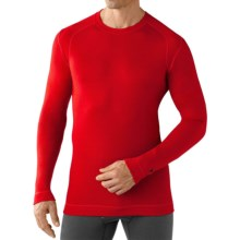 SmartWool NTS Mid 250 Base Layer Top - Merino Wool, Crew Neck, Long Sleeve (For Men) in Bright Red - Closeouts