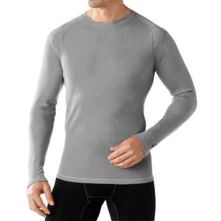 SmartWool NTS Mid 250 Base Layer Top - Merino Wool, Crew Neck, Long Sleeve (For Men) in Light Grey Heather - Closeouts