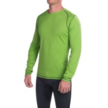 SmartWool NTS Mid 250 Base Layer Top - Merino Wool, Crew Neck, Long Sleeve (For Men) in Lime - Closeouts