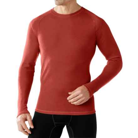 SmartWool NTS Mid 250 Base Layer Top - Merino Wool, Crew Neck, Long Sleeve (For Men) in Moab Rust Heather - Closeouts