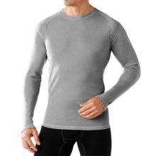 SmartWool NTS Mid 250 Base Layer Top - Merino Wool, Crew Neck, Long Sleeve (For Men) in Silver Gray Heather - Closeouts