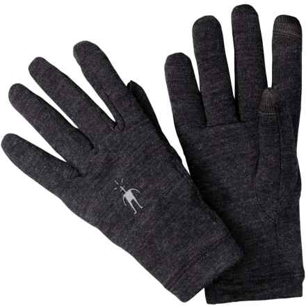 SmartWool NTS Mid 250 Gloves - Merino Wool, Touchscreen Compatible (For Men and Women) in Charcoal Heather - Closeouts