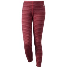 SmartWool NTS Mid 250 Pattern Base Layer Bottoms - Merino Wool (For Little and Big Kids) in Aubergine Heather - Closeouts