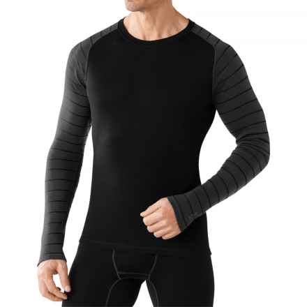 SmartWool NTS Mid 250 Pattern Base Layer Top - Merino Wool, Crew Neck, Long Sleeve (For Men) in Black/Charcoal - Closeouts