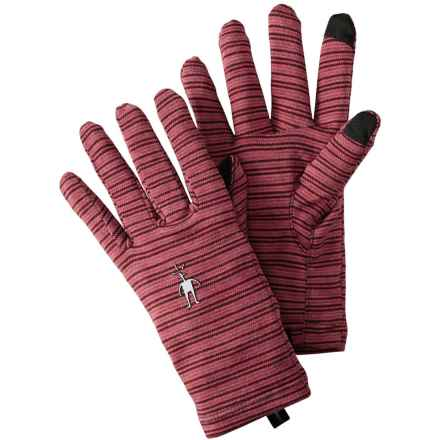SmartWool NTS Mid 250 Pattern Gloves - Merino Wool, Touchscreen Compatible (For Men and Women) in Aubergine Heather - Closeouts
