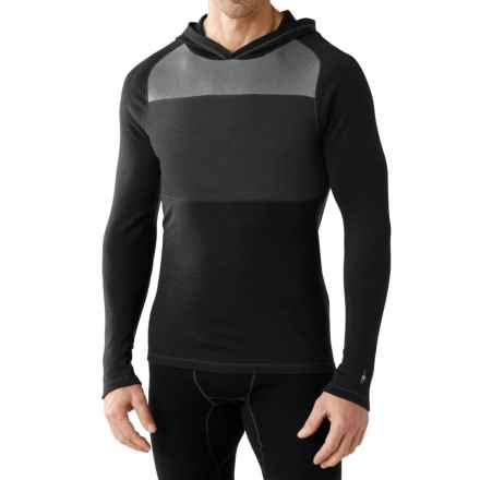 SmartWool NTS Midweight 250 Color-Block Hoodie - Merino Wool (For Men) in Black - Closeouts