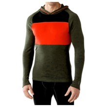 SmartWool NTS Midweight 250 Color-Block Hoodie - Merino Wool (For Men) in Olive Heather - Closeouts